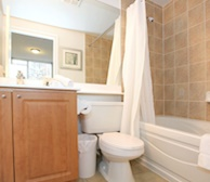Master Bathroom Soaker Tub Fully Furnished Apartment Suite Markham