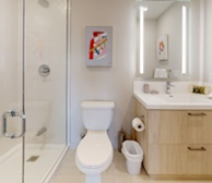 Master Bathroom Walk In Shower Fully Furnished Apartment Suite Downtown Toronto