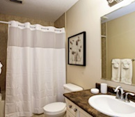 Bathroom Soaker Tub Fully Furnished Apartment Suite Kitchener