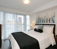 Master Bedroom Fully Furnished Apartment Suite - Midtown Toronto