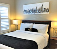 Second Bedroom Queen Mattress Fully Furnished Apartment Suite Brampton