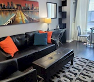 Living Room Free WiFi Fully Furnished Apartment Suite Downtown Toronto