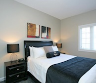 Master Bedroom Queen Mattress Fully Furnished Apartment Suite Kleinburg 12