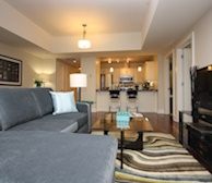 Living Room Free WiFi Fully Furnished Apartment Suite The Keelson Kings Wharf Dartmouth NS