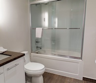 Bathroom Walk In Shower Fully Furnished Apartment Suite Downtown Toronto