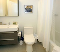 Bathroom Soaker Tub Fully Furnished Apartment Suite Markham