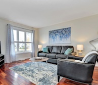 Living Room Free WiFi Fully Furnished Apartment Suite Ottawa