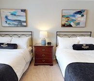 Second Bedroom Two Double Mattress Fully Furnished Apartment Suite Oakville