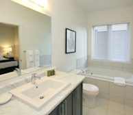 Master Bathroom Walk In Shower Fully Furnished Apartment Suite Maple