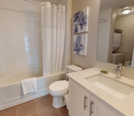 Bathroom Soaker Tub Fully Furnished Apartment Suite Oakville