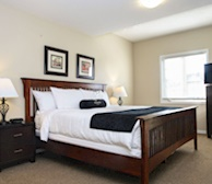 Master Bedroom King Mattress Fully Furnished Apartment Suite Kitchener