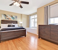 Master Bedroom Queen Mattress Fully Furnished Apartment Suite Kanata