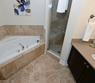 Master Bathroom Soaker Tub Fully Furnished Apartment Suite Pickering