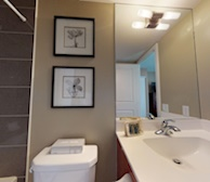 Master Bathroom Soaker Tub Fully Furnished Apartment Suite Mississauga