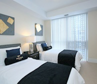 2116-Second Bedroom Two Twin Beds Fully Furnished Apartment Suite Midtown Toronto