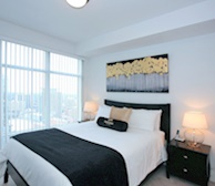 3508-Master Bedroom Queen Mattress Fully Furnished Apartment Suite Midtown Toronto