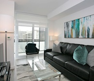 Living Room Free WiFi Fully Furnished Apartment Suite Midtown Toronto