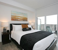 Master Bedroom Queen Mattress Fully Furnished Apartment Suite Midtown Toronto