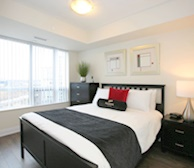 Master Bedroom Queen Mattress Fully Furnished Apartment Suite North York