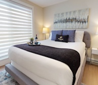 Master Bedroom Queen Mattress Fully Furnished Apartment Suite Halifax NS