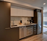 Kitchen Fully Equipped Appliances Le Encore Montreal Quebec