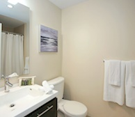 Bathroom Soaker Tub Fully Furnished Apartment Suite Midtown Toronto