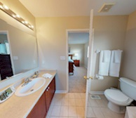 Master Bathroom Walk In Shower Fully Furnished Apartment Suite Oakville