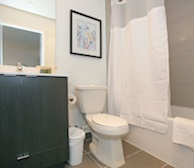 Bathroom 3 Piece Fully Furnished Apartment Suite North York