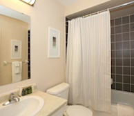 Master Bathroom Soaker Tub Fully Furnished Townhouse Suite Markham