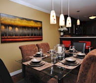 Dining Room and Kitchen Fully Equipped Five Appliances Fully Furnished Suite St. John's, NL