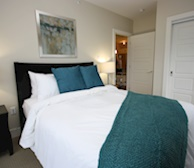 Master Bedroom Fully Furnished Apartment Suite The Keelson Kings Wharf Dartmouth NS