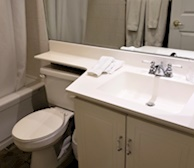 Bathroom Soaker Tub Fully Furnished Apartment Suite Downtown Toronto