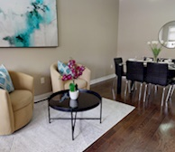 Dining Room Fully Furnished Apartment Suite Brampton