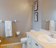 Master Bathroom Walk In Shower and soaker tub Fully Furnished Apartment Suite Brampton