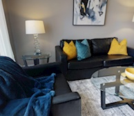 Living Room Free WiFi Fully Furnished Apartment Suite Brampton