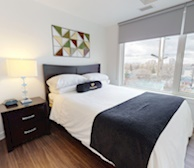 602 Second Bedroom Queen Mattress Fully Furnished Apartment Suite Ottawa