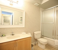 Bathroom 3 Piece Fully Furnished Apartment Suite - Kleinburg 20