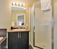 Master Bathroom Walk In Shower Fully Furnished Apartment Suite Kanata