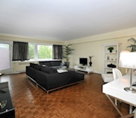 Living Room Free WiFi Fully Furnished Apartment Westmount Hills Montreal Quebec