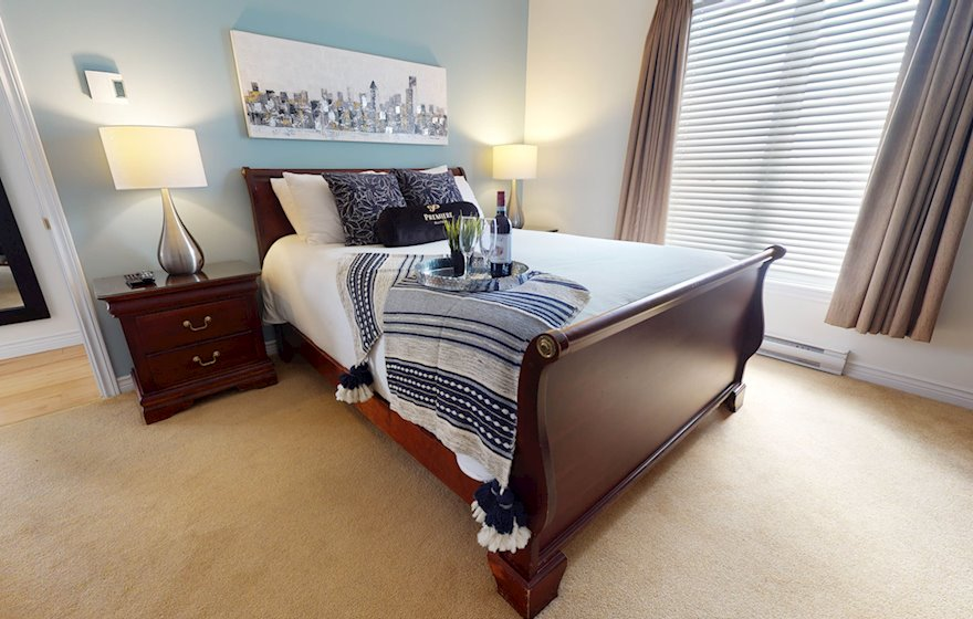 Master Bedroom Fully Furnished Apartment Suite, Assomption Boulevard Moncton NB