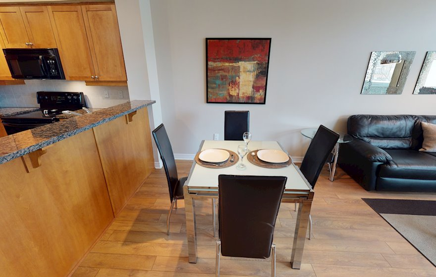 203 Dining Room Fully Furnished Apartment Suite Ottawa