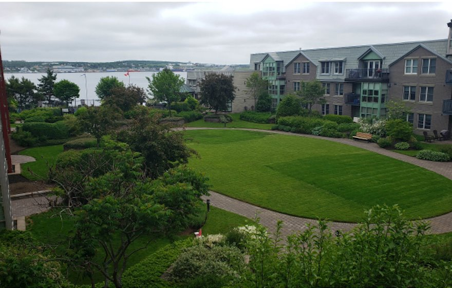 Living Room Free WiFi Fully Furnished Apartment Harbour View Suite Bishop's Landing Halifax NS