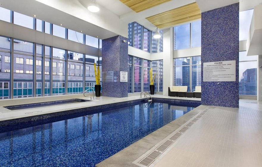 Pool Fitness Common Area Free Access  Le V Montreal Quebec