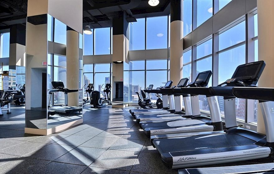 Gym Fitness Room Common Area Free Access Le V Montreal Quebec