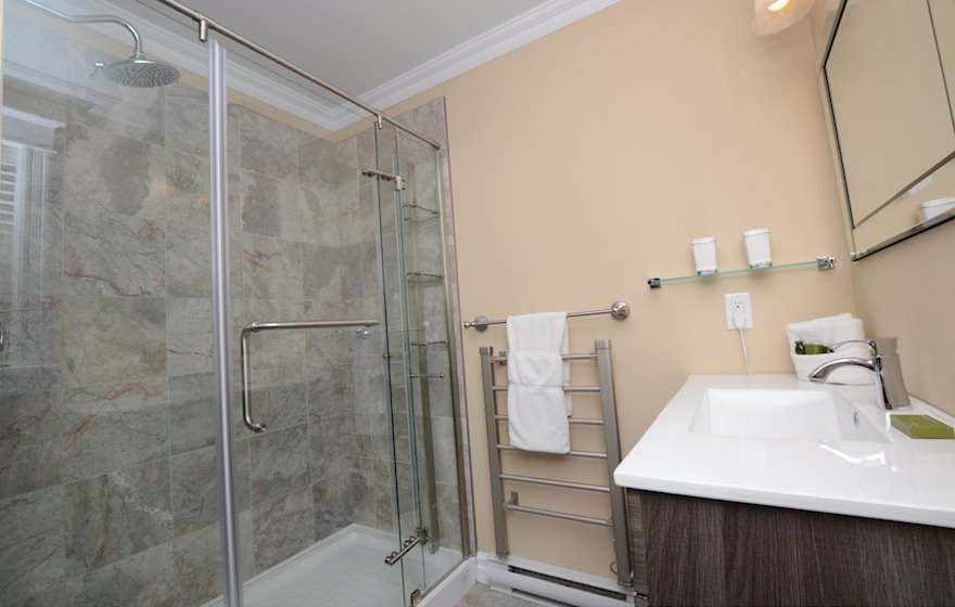 Bathroom Walk In Shower Fully Furnished Apartment Suite St. John's Newfoundland