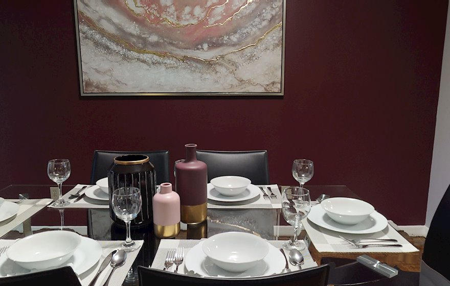 Dining Room Fully Furnished Apartment Suite Midtown Toronto