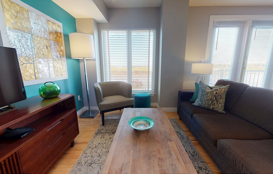 Living Room Free WiFi Fully Furnished Apartment, Assomption Boulevard Moncton NB