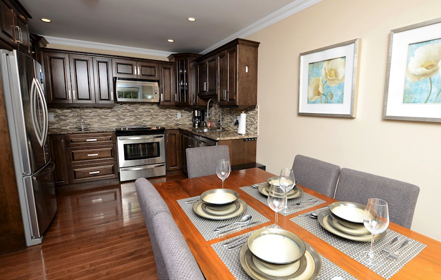 Kitchen and Dining Room Fully Equipped Five Appliances Stainless Steel Halifax, NS