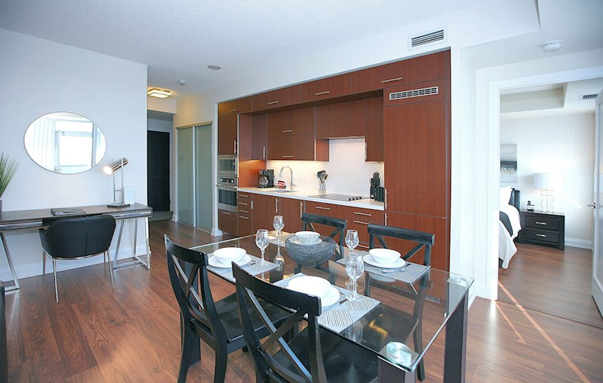3226-Dining Room Fully Furnished Apartment Suite North York