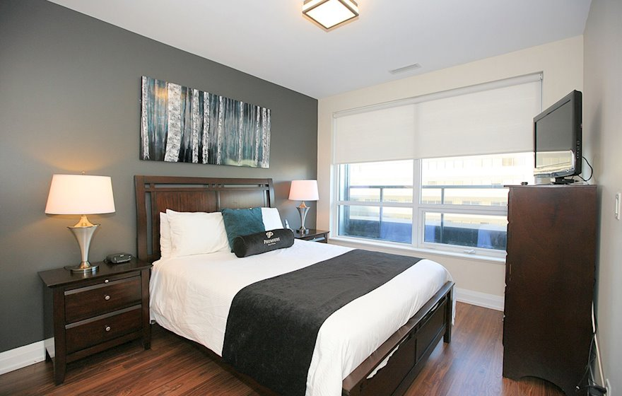 3226-Master Bedroom Queen Mattress Fully Furnished Apartment Suite North York